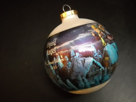 Hummel Glass Ornament 1990 Flying Angel 8th Annual Edition Reproduction Boxed - $11.99