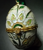 May Department Stores Christmas Ornament Cloisonne Collection Egg 2003 Boxed - $11.99