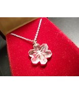 Strauss Collection Lead Crystal Snowflake Necklace 32% Full Lead Crystal... - $15.99