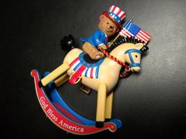 Carlton Cards Christmas Ornament 2004 Old Glory Patriotic Uncle Sam Teddy Bear - $9.99
