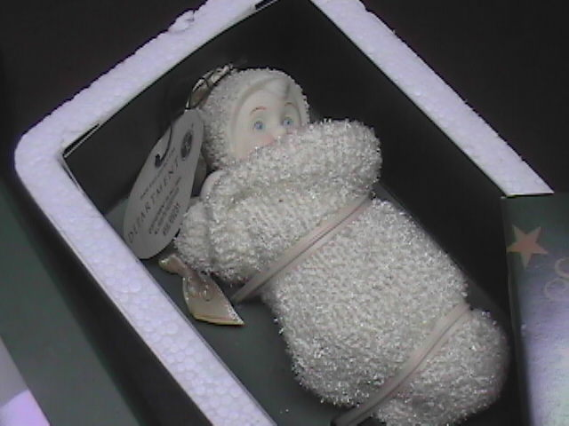 Primary image for Snowbabies A Baby in My Stocking Dept 56 Original Presentation Box Bisque Figure