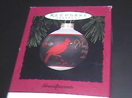 Hallmark Keepsake Ornament 1994 Grandparents Glass Bulb Boxed Cardinal o... - $8.99