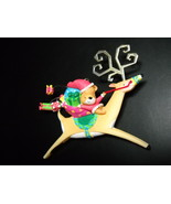 Carlton Cards Heirloom Ornament 2002 Bear Mail Whimsical Reindeer Metal ... - $10.99