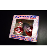 Topperscot Ohio State Two Mini Christmas Ornaments Snowman and Bulb Brig... - $7.99