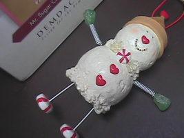Demdaco A La Mode Mr Sugar Cone Esq Christmas Ornament Nancy Carter Original Box - $9.99
