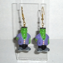 Halloween Monster 3D Frankenstein Earrings with Fish Hook Wires - £8.25 GBP