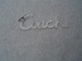 AUTHENTIC COACH CLEAR ACRYLIC SCRIPT BACK KEY CHAIN/HANG TAG  EUC - $15.00