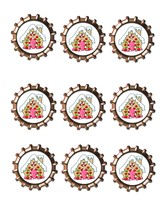 GingerBread House Bottlecap -Download-ClipArt-ArtClip-Bottle Cap-Digital - $2.00