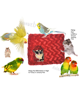 Soft-sided CORNER Hut with Hammock Top for Small Birds / Pets - Patent P... - £17.10 GBP