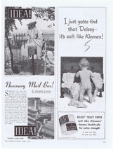 1941 Delsey Toilet Paper Kleenex Naked Baby making mess Print Ad - $9.99