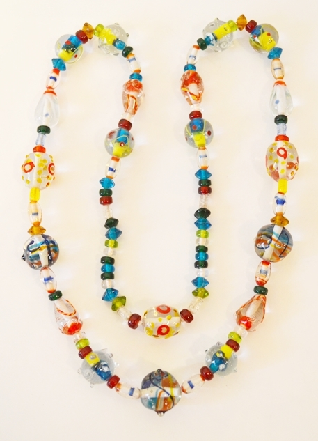 Primary image for VINTAGE BLOWN GLASS NECKLACE