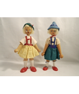 Vintage Wooden Peg Dolls - Made in Poland - Great Find! - $26.00