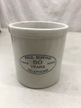 Red Wing Advertising Stoneware Crock 2002 Paul Bunyan Telephone 50 years - $49.99