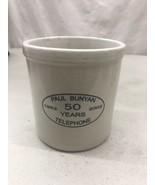 Red Wing Advertising Stoneware Crock 2002 Paul Bunyan Telephone 50 years - $49.99