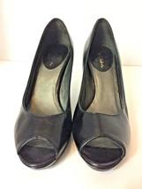 Cole Haan Black Leather Open Toe Pumps - US Size 6.5 B - $10.00