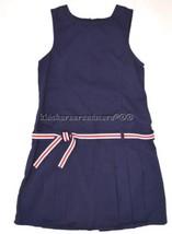 Gymboree School Uniform 8  Navy Jumper Pleated Dress  - $26.09