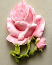 L Open Rose w    - $15.00