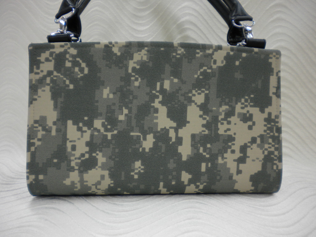 Camouflage Handmade Magnetic Shell Slipcover for Classic Base Bag Shelly Purse