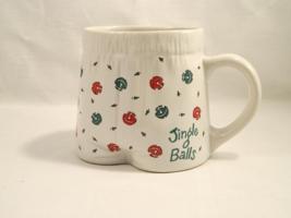Papel Freelance JINGLE BALLS Ceramicware Xmas Mug - Sense of Humor Requi... - $16.00