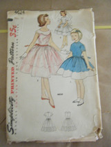 Vintage 1950's Simplicity 4624 Girl's Party Dresses Pattern - Size 10 - $14.27