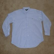 Ralph Lauren Yarmouth, Men's Long Sleeve Dress Shirt, 16.5, Blue - $13.49