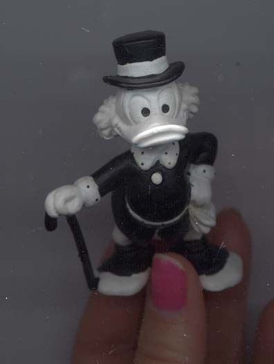 Primary image for Disney Uncle Scrooge Rare Figurine in black & White German PVC
