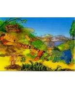 Disney Eeyore Tigger  & Winnie Rabbits House 3d Lenticular Print Germany - $19.33