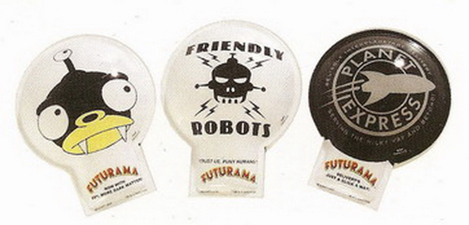 Primary image for Futurama Nibbler, Planet Express,  Friendly Robots 3 click tin toys.
