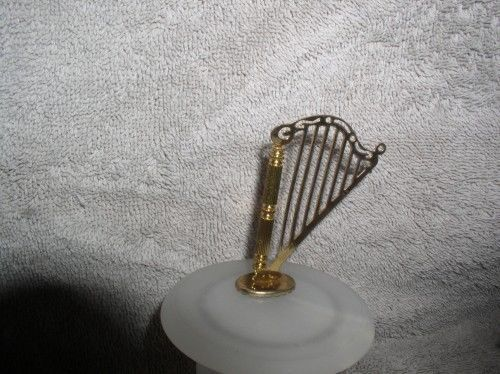 Primary image for Harp a Musical Instrument metal ornament