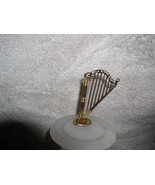 Harp a Musical Instrument metal ornament - $12.59