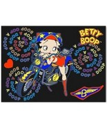 Betty Boop Motor Cycle Rider Biker Animated black 3d Lenticular 4 x 6 in... - $12.59