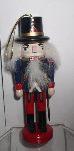 Primary image for Nutcracker Guard 5 inch wood ornament with lever to open mouth