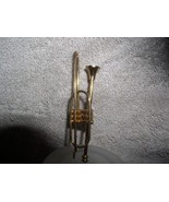 Trumpet a Musical Instrument metal ornament - $12.59