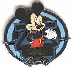 Primary image for Mickey Mouse Libra Zodiac authentic Disney WDW No Backer card Pin