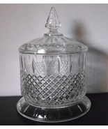 Indiana princess double clear candy dish and lid keep thumbtall