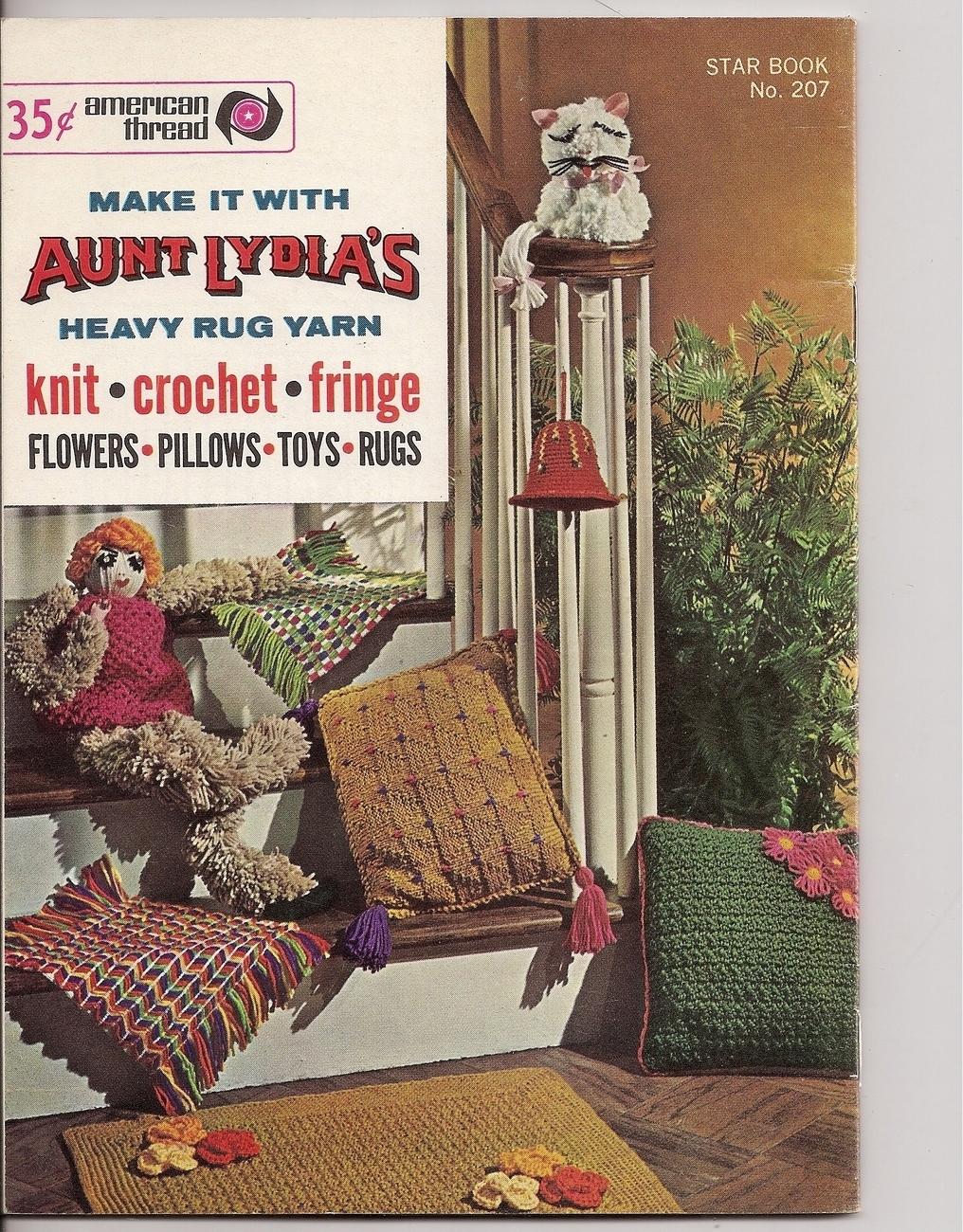 Make It With Aunt Lydias Rug Yarn Knit Crochet American Thread Star Book No 207
