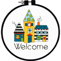 CLEARANCE Welcome Learn-A-Craft Beginner Counted Cross Stitch Kit Dimensions - $3.00
