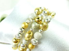 Sterling silver gold two tone beaded coil bracelet memory wire  92d9c8e1 1  thumb200