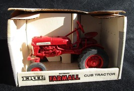 Vintage ERTL Farmall Cub Tractor 1/16 Scale Model, NEVER REMOVED FROM BOX - $33.03