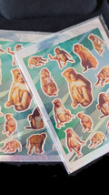 monkeys theme mixed sheet of peel off stickers 2 sheets ideal cards, papercraft,