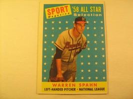 MLB Topps Baseball Card 1958 WARREN SPAHN #494 [b5e7] - $9.57