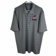 Georgia Bulldogs Champion Golf Polo Shirt Large Gray Striped UGA Dawgs Dri-Fit - $24.65