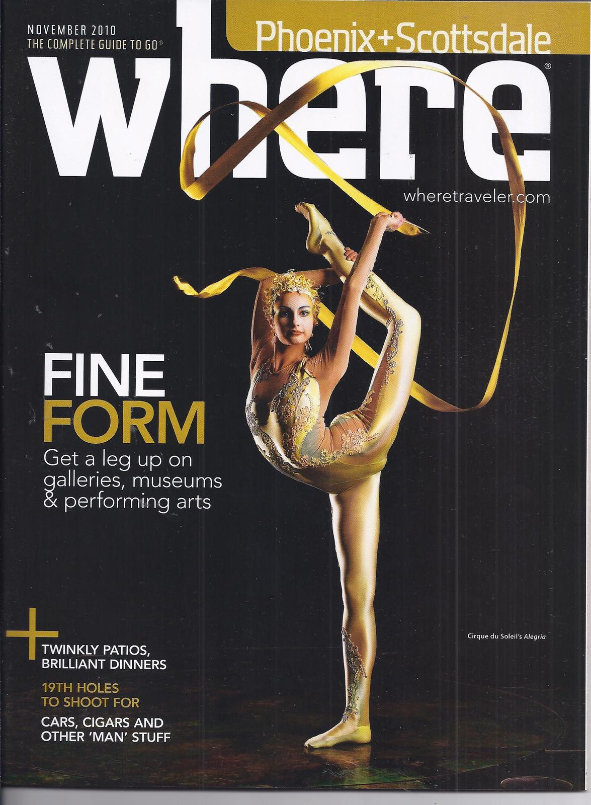 Primary image for CIRQUE DU SOLEIL'S ALEGRIA @ Las Vegas WHERE Mag NOV 2010