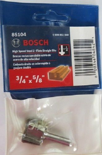 "Primary image for Bosch 85104 3/4"" x 5/8"" HSS 2-Flute Straight Bit"