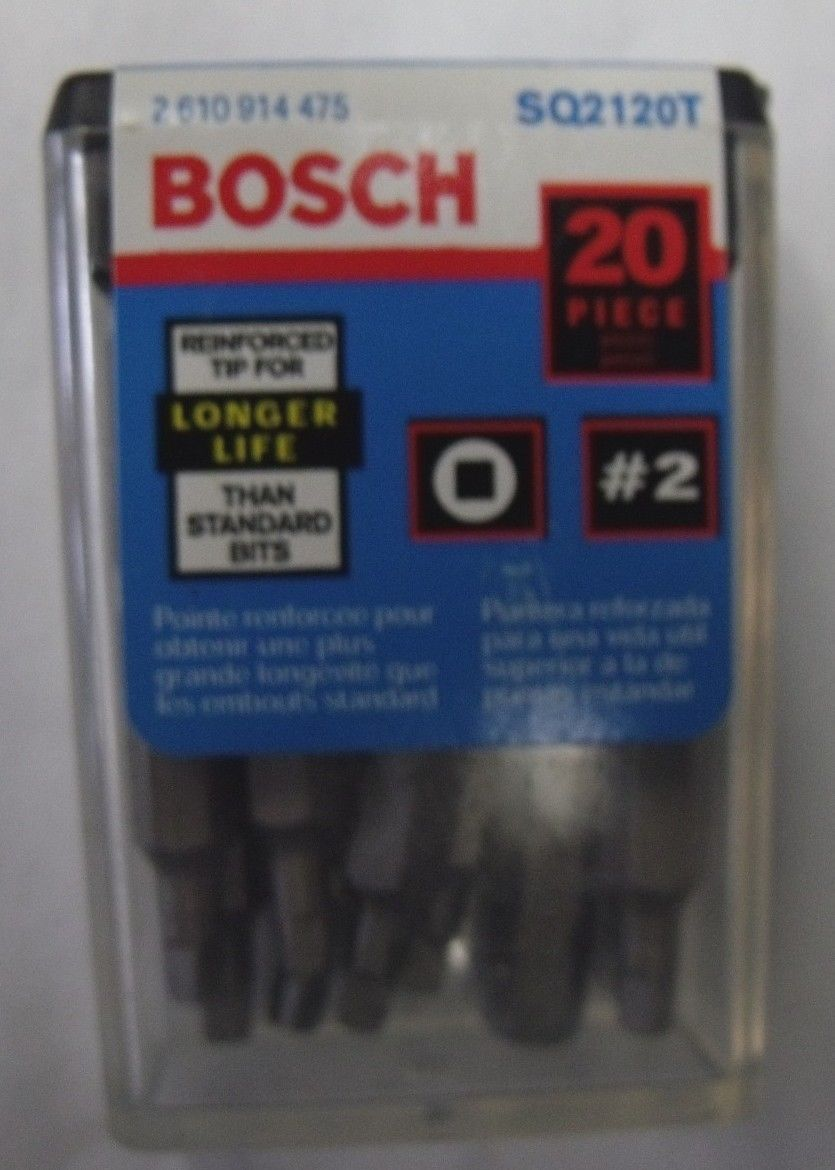 "Primary image for Bosch SQ2120T #2 Square Recess 1"" Bit Tips 20pcs."