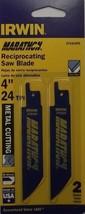 "Irwin 372424P2 4"" x 24TPI Bi-Metal Metal Reciprocating Cutting Blades 2p... - $2.00"