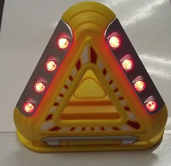 Primary image for Auto Flashing Emergency Triangle 6 High Intensity Flashing LED's L91-4717
