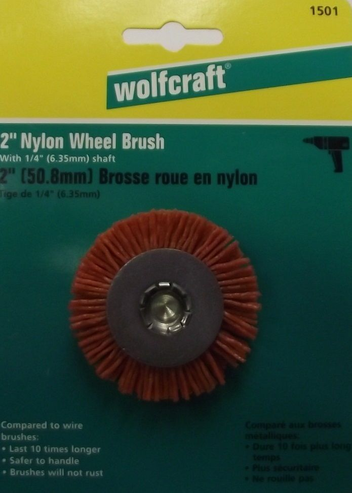 "Primary image for Wolfcraft 2"" Nylon Wheel With 1/4"" Shaft 1501 Germany"