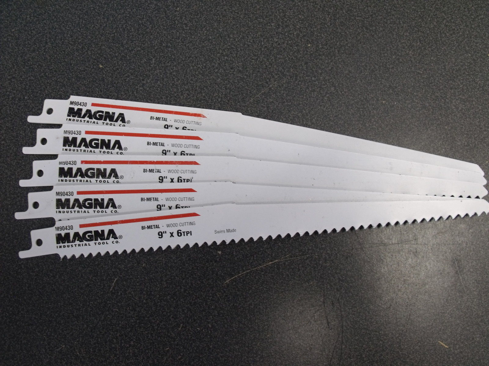 "Primary image for Magna 9"" 6TPI Bi-Metal recip Saw Blades 5pc M90430 5PCS."