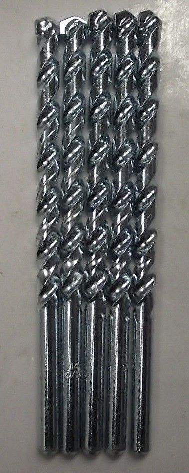 "Primary image for Vermont American 9/16"" x 8"" 3/8"" Shank Rotary Masonry Drill Bit 9953585 5pcs"